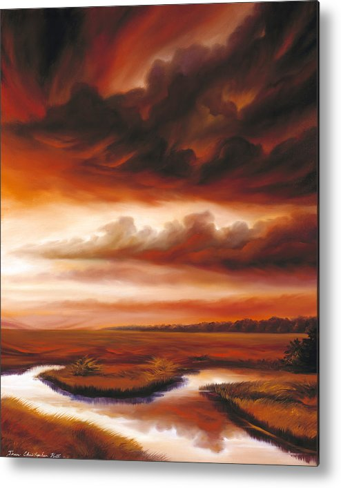 Contemporary Metal Print featuring the painting Black Fire by James Christopher Hill