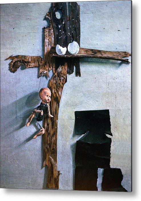 Born Again Metal Print featuring the painting Born Again by John Lautermilch