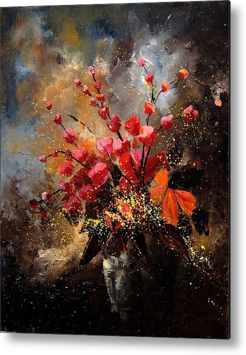 Poppies Metal Print featuring the painting Bunch 1207 by Pol Ledent