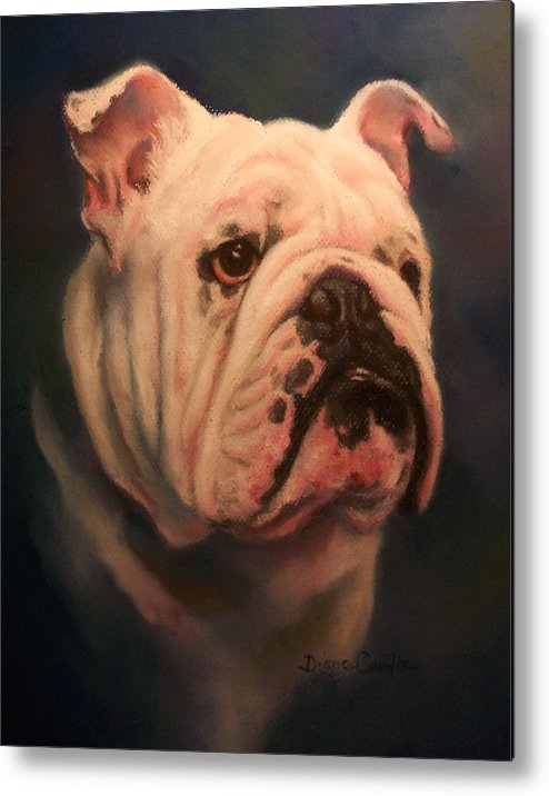 English Bull Dog Metal Print featuring the painting Caesar by Diane Caudle