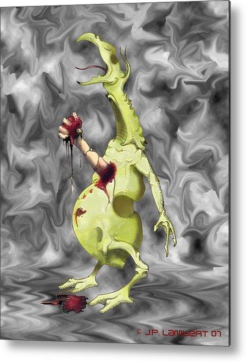 Violent Metal Print featuring the digital art Chesterbuster by J P Lambert