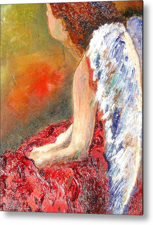 Angels Metal Print featuring the painting Clarity Of Thought by J Bauer
