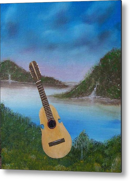 Cuatro Series Metal Print featuring the painting Cuatro by Tony Rodriguez