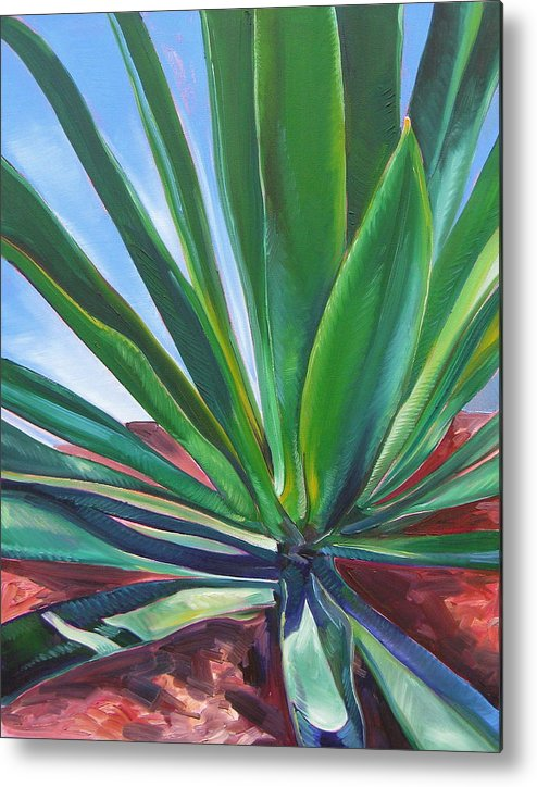 Botanical Metal Print featuring the painting Desert Plant by Karen Doyle