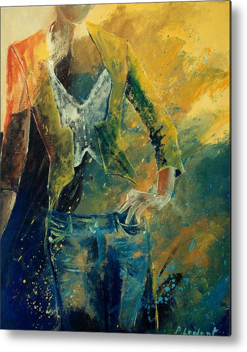 Woman Girl Fashion Metal Print featuring the painting Dinner Jacket by Pol Ledent