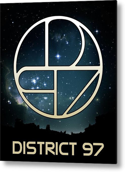 Metal Print featuring the digital art District 97 Logo by District 97