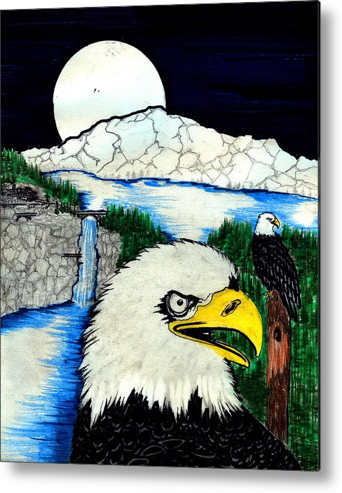 Metal Print featuring the painting Eagle's Lair by Harry Richards