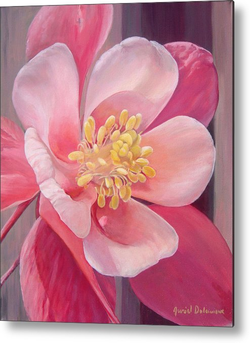 Floral Painting Metal Print featuring the painting Encolie by Muriel Dolemieux