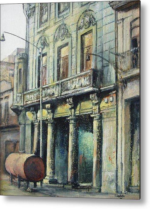 Havana Metal Print featuring the painting Esplendor en la habana by Tomas Castano