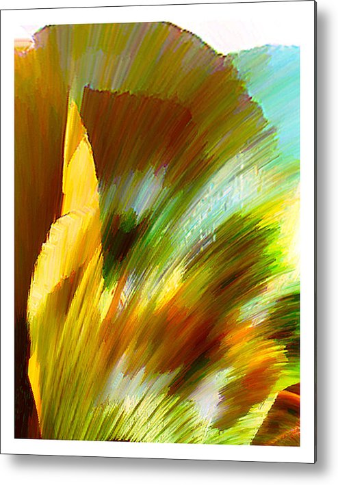 Landscape Digital Art Watercolor Water Color Mixed Media Metal Print featuring the digital art Feather by Anil Nene