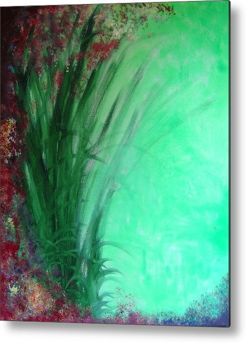 Green Ferns Metal Print featuring the painting Ferns by Lizzy Forrester