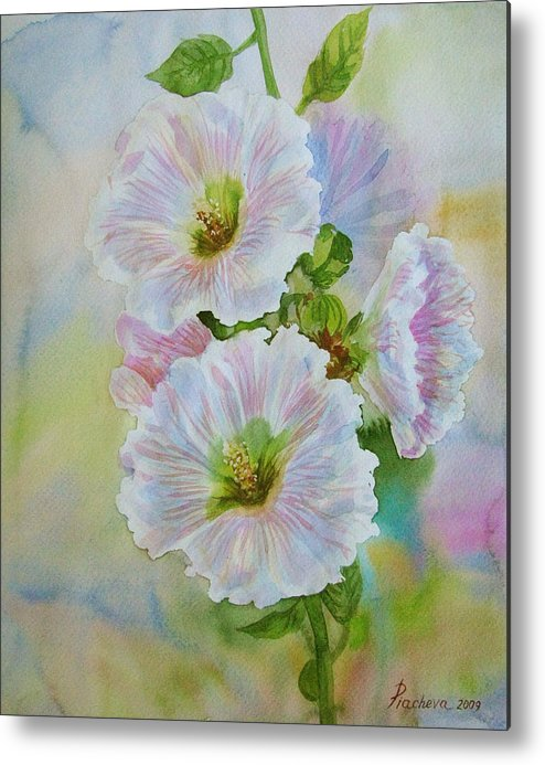 Flower Metal Print featuring the painting Flower in summer. by Natalia Piacheva