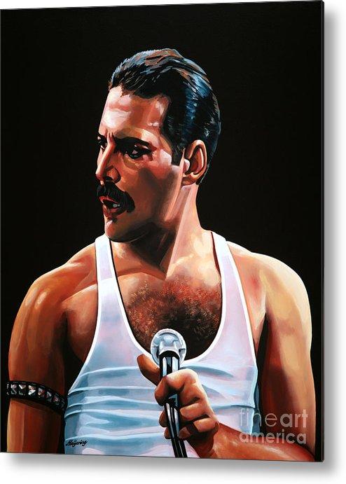 Freddie Mercury Metal Print featuring the painting Freddie Mercury by Paul Meijering