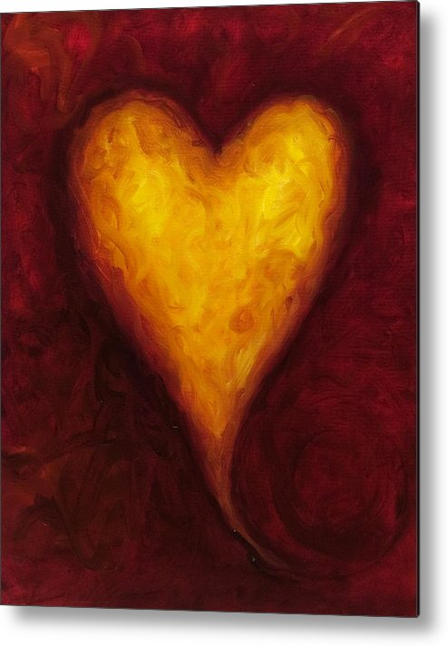 Heart Metal Print featuring the painting Heart of Gold 1 by Shannon Grissom