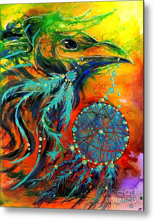 Mythical Metal Print featuring the painting Hope Rising by Francine Dufour Jones