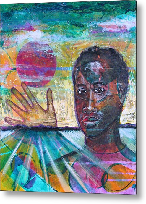 African-american Metal Print featuring the painting If I... by Rollin Kocsis
