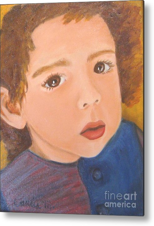 Portrait Metal Print featuring the painting Jackson by Laurie Morgan