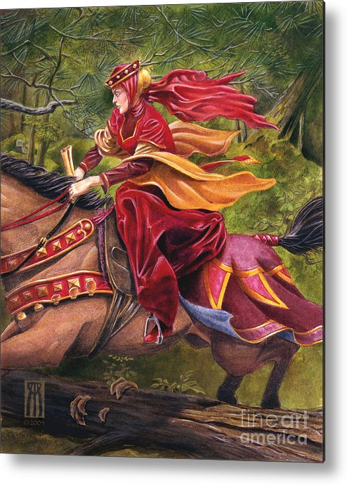 Camelot Metal Print featuring the painting Lady Lunete by Melissa A Benson
