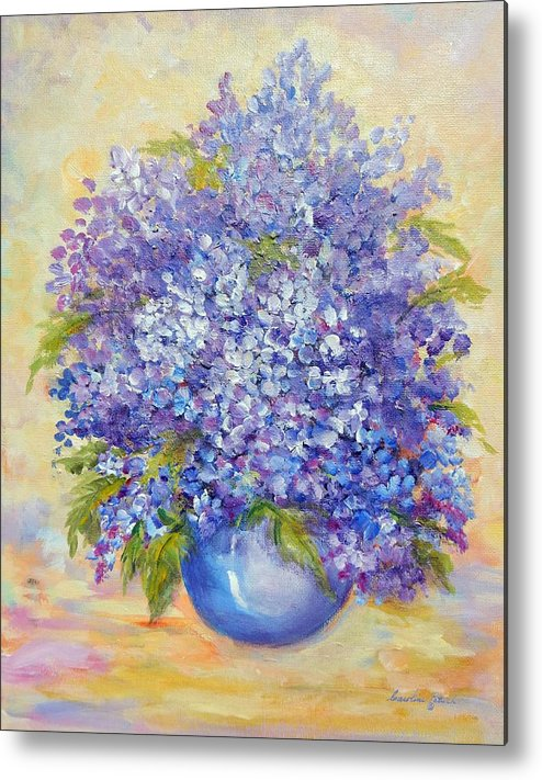 Plants Metal Print featuring the painting Lavender by Caroline Patrick