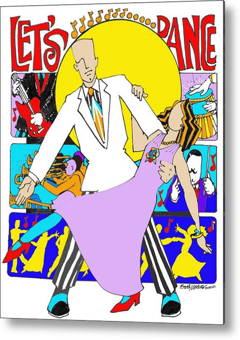 Let's Dance A Tribute To David Bowie Metal Print featuring the digital art Let's Dance A Tribute to David Bowie by Seth Weaver