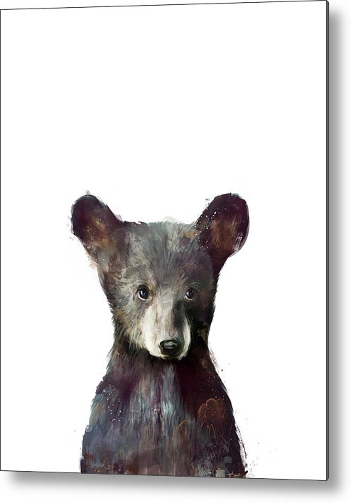 Bear Metal Print featuring the painting Little Bear by Amy Hamilton