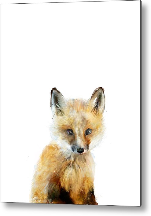 Fox Metal Print featuring the painting Little Fox by Amy Hamilton
