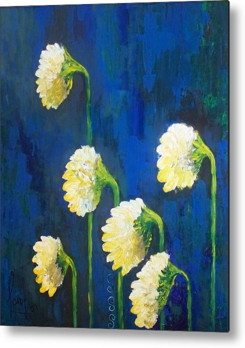 Metal Print featuring the painting Looking Back by Carol P Kingsley