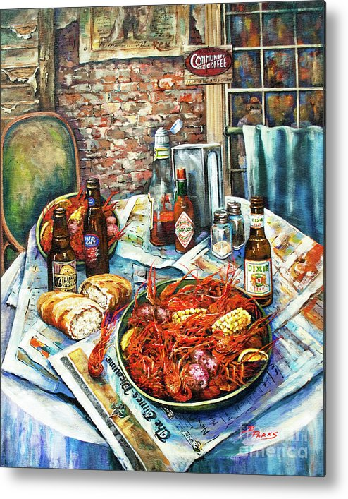 New Orleans Art Metal Print featuring the painting Louisiana Saturday Night by Dianne Parks