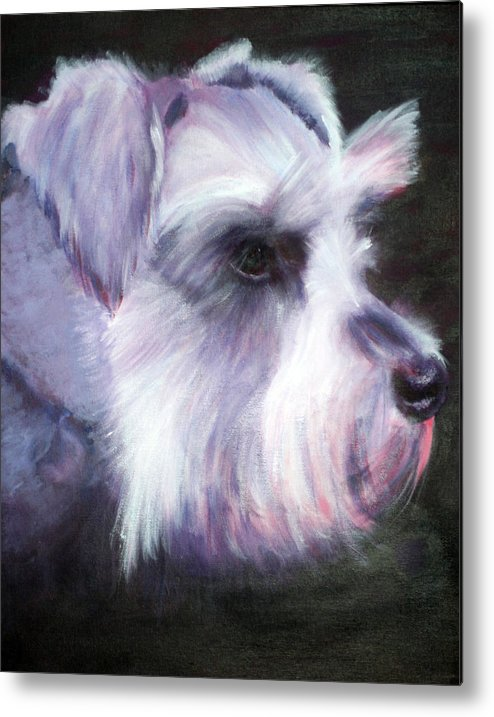 Dog Metal Print featuring the painting Maizee by Fiona Jack