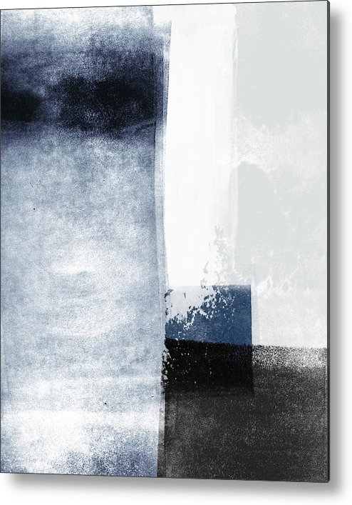 Blue Metal Print featuring the mixed media Mestro 3- Abstract Art by Linda Woods by Linda Woods