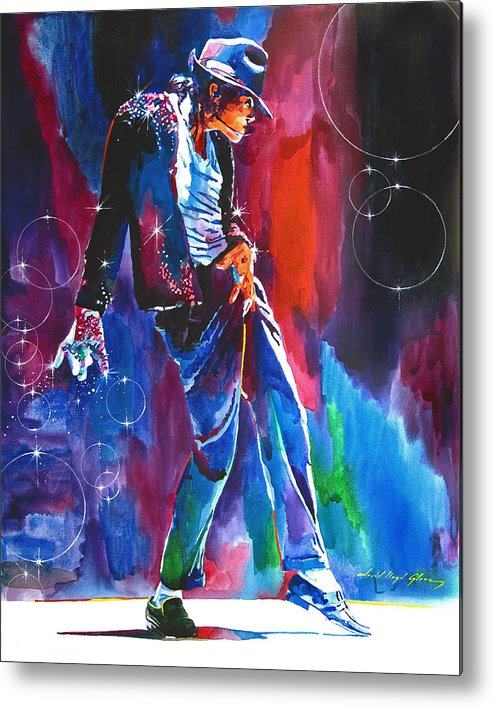 Michael Jackson Metal Print featuring the painting Michael Jackson Action by David Lloyd Glover