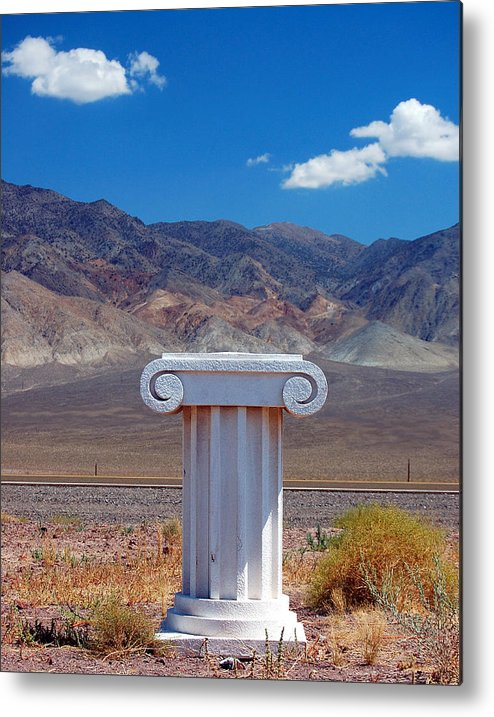 Columns Metal Print featuring the photograph Middle Of Nowhere by Heather S Huston