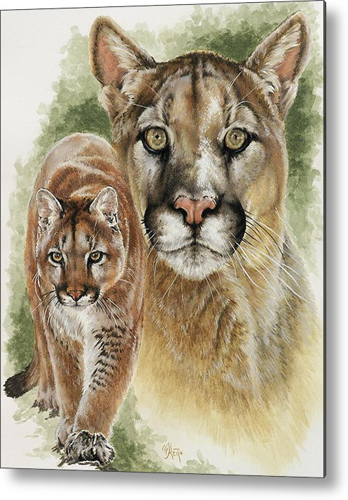Cougar Metal Print featuring the mixed media Mighty by Barbara Keith