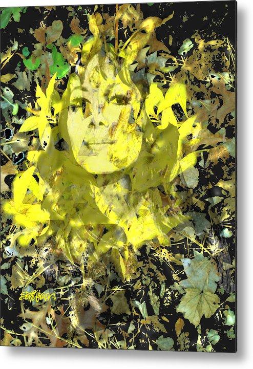 Mistress Of Autumn Metal Print featuring the digital art Mistress of Autumn by Seth Weaver
