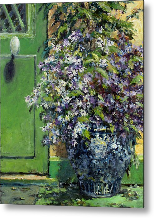 Giverny France Metal Print featuring the painting Monet's Entry by L Diane Johnson