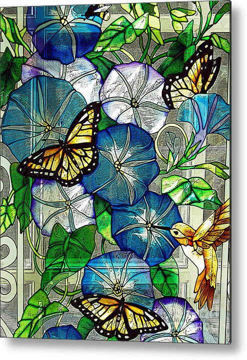 Berry Metal Print featuring the photograph Morning Glory by Diane E Berry