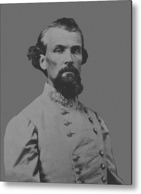 Nathan Bedford Forrest Metal Print featuring the painting Nathan Bedford Forrest by War Is Hell Store