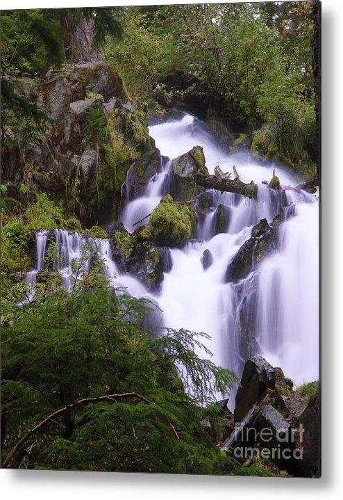 Waterfall Metal Print featuring the photograph National Creek Falls 05 by Peter Piatt