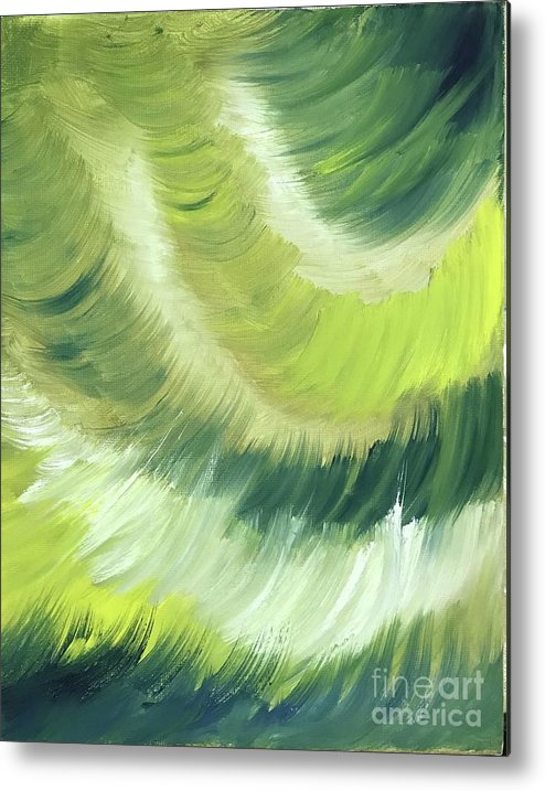 Abstract Metal Print featuring the painting No Strings Attached by Sheila Mashaw