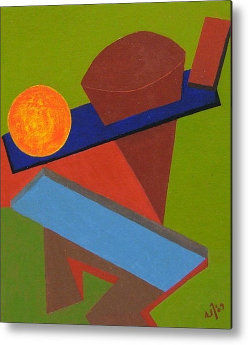 Abstract Metal Print featuring the painting No.338 by Vijayan Kannampilly