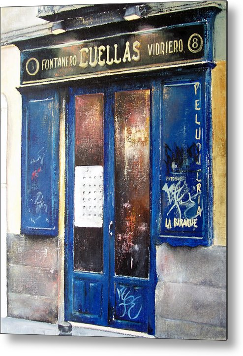 Old Metal Print featuring the painting Old Plumbing-Madrid by Tomas Castano