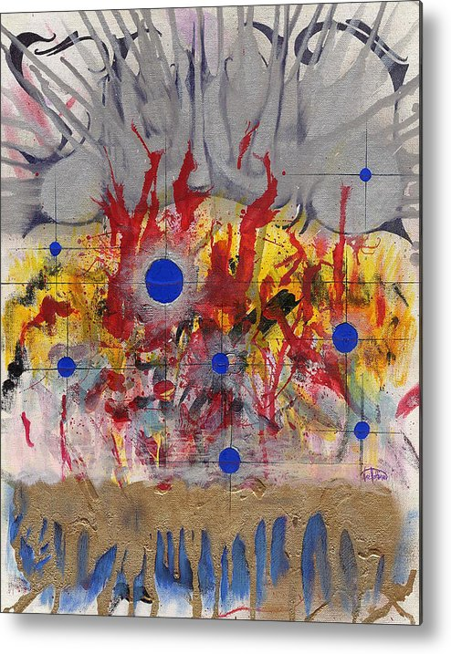 Chaos Metal Print featuring the painting Order In Chaos by Nathaniel Hoffman