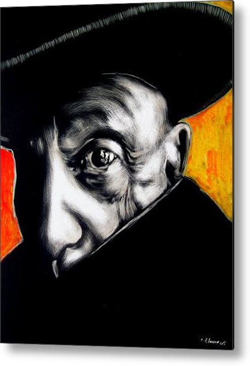 Metal Print featuring the mixed media Pablo by Chester Elmore
