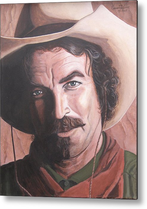 Cowboy Metal Print featuring the painting Quigley by Kenneth Kelsoe