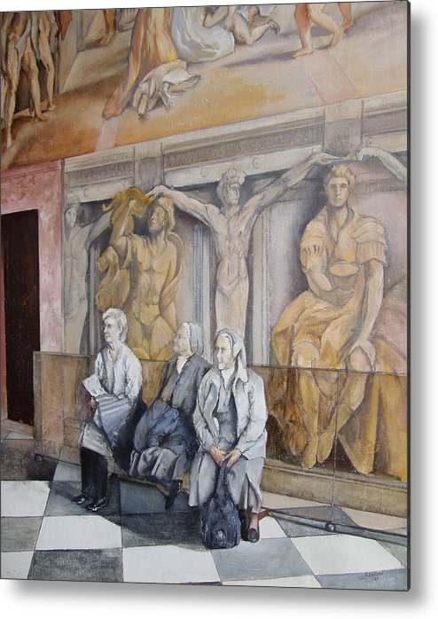 Vaticano Metal Print featuring the painting Reposo En El Vaticano by Tomas Castano