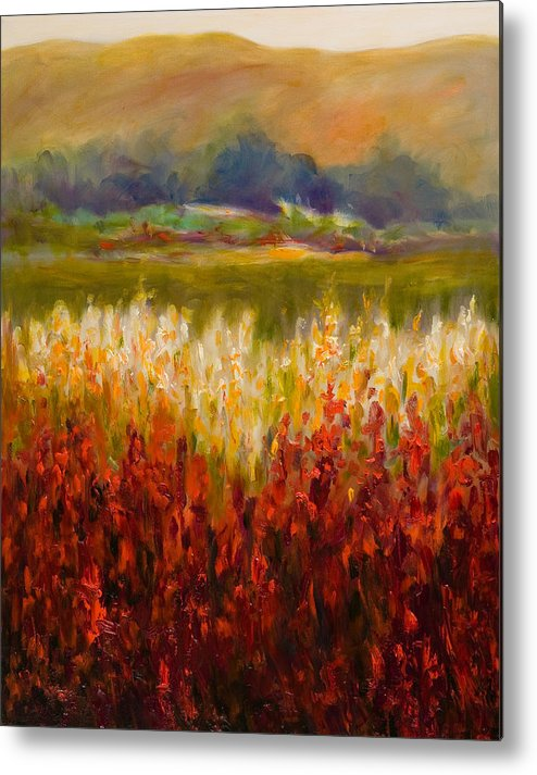 Landscape Metal Print featuring the painting Santa Rosa Valley by Shannon Grissom