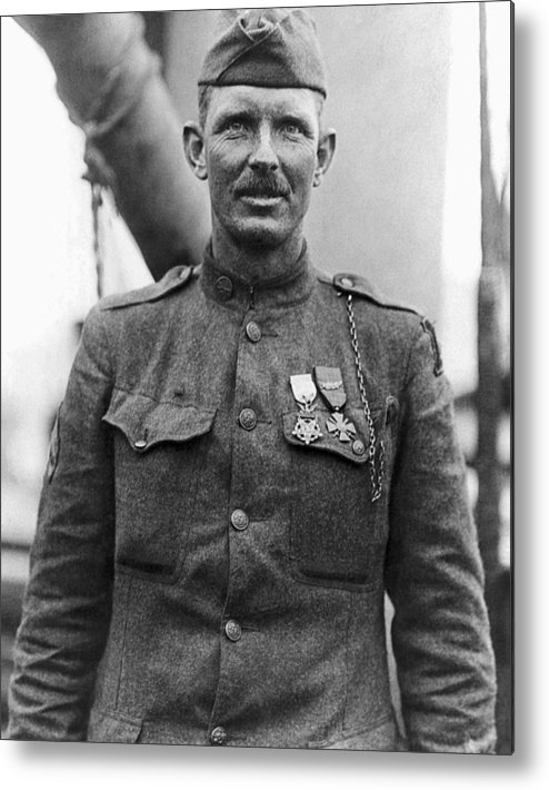 Alvin York Metal Print featuring the photograph Sergeant York - World War I Portrait by War Is Hell Store