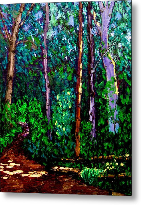 Plein Air Metal Print featuring the painting Sewp 6 15 05 by Stan Hamilton