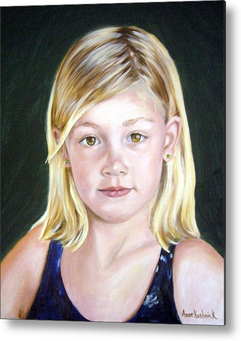 Portrait Metal Print featuring the painting Shannon by Anne Kushnick