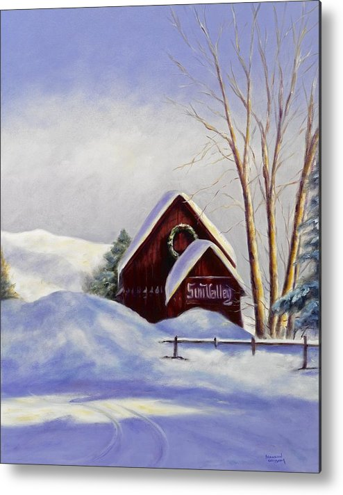 Landscape Metal Print featuring the painting Sun Valley 2 by Shannon Grissom
